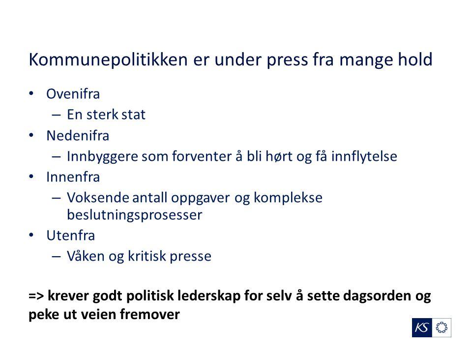 KS støtte til kommunene Hva betyr størrelse for lokaldemokrati.