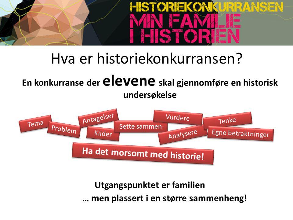 Hva er historiekonkurransen.