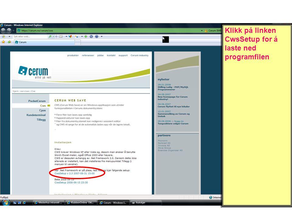 Åpne Windowsut- forsker, finn mappen Cerum og klikk med HØYRE musetast nå du holder pekeren over mappen