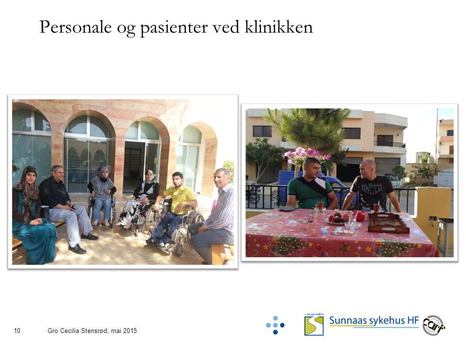 10 Personale og pasienter ved klinikken Gro Cecilia Stensrød, mai 2015