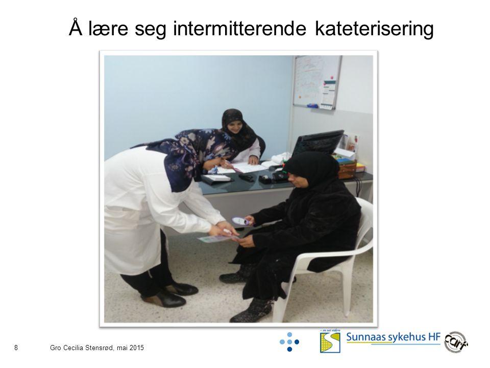 8 Å lære seg intermitterende kateterisering Gro Cecilia Stensrød, mai 2015