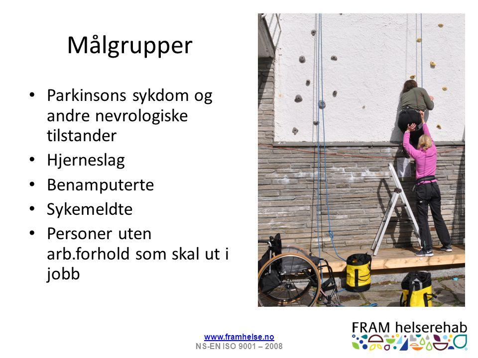 Våre verdier Mestringstro Respekt Kunnskap Glede www.framhelse.no NS-EN ISO 9001 – 2008