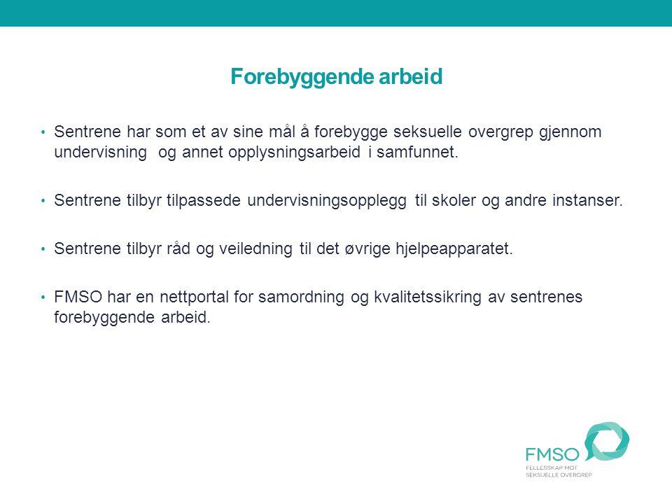 Fellesskap mot seksuelle overgrep -FMSO Fellesorganisasjonen til sentrene mot incest og seksuelle overgrep og Dixi ressurssenter mot voldtekt.
