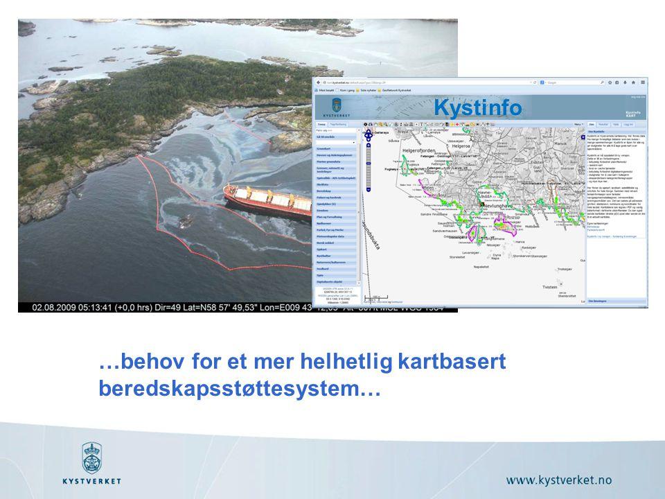 Kystinfo …behov for et mer helhetlig kartbasert beredskapsstøttesystem…