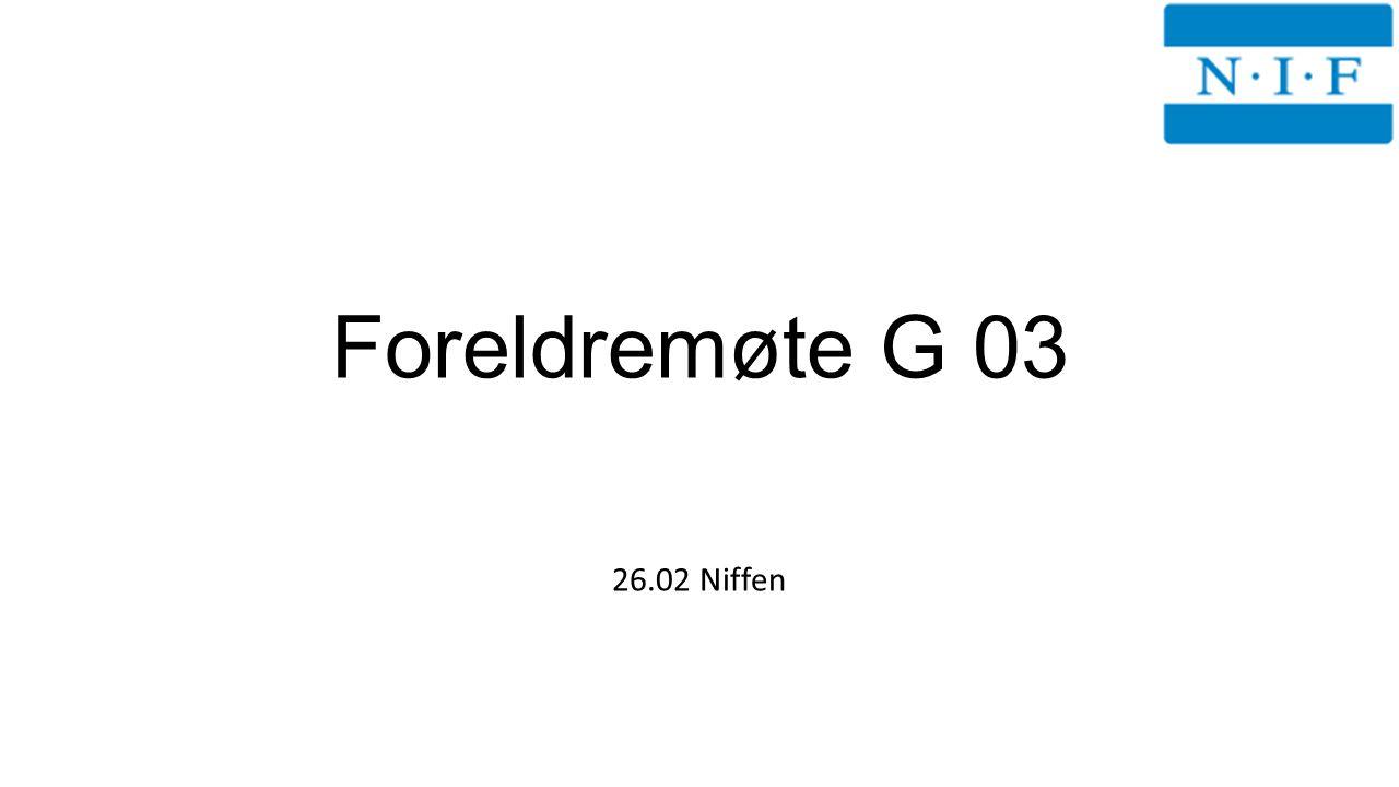Foreldremøte G 03 26.02 Niffen