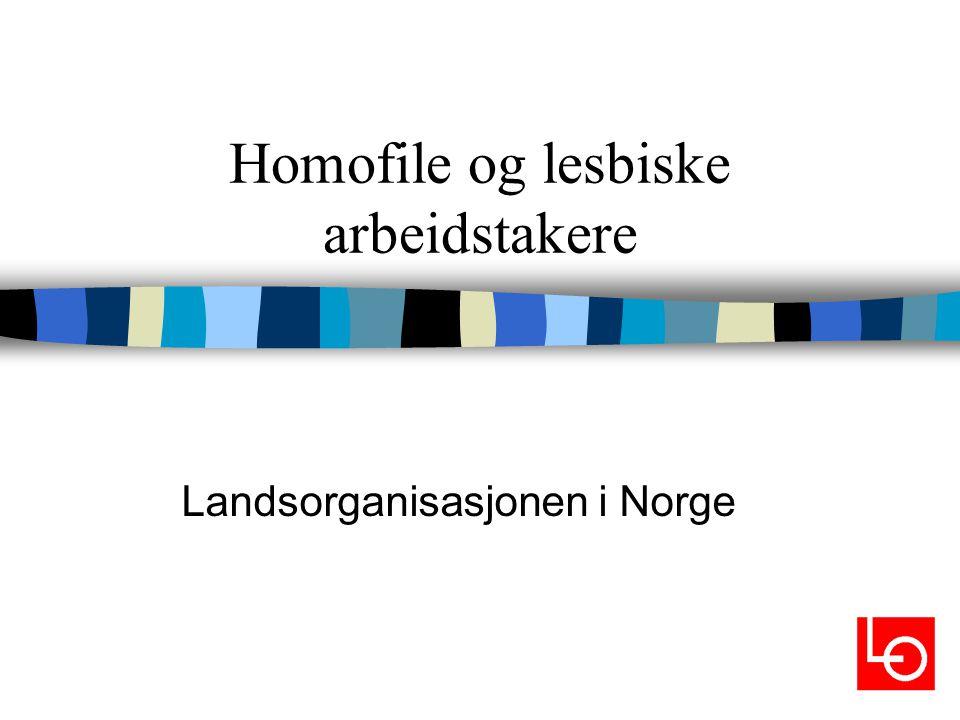 Introduksjon n Homofile og lesbiske opplever i større grad enn andre å bli diskriminert og/eller trakassert på arbeidsplassen.