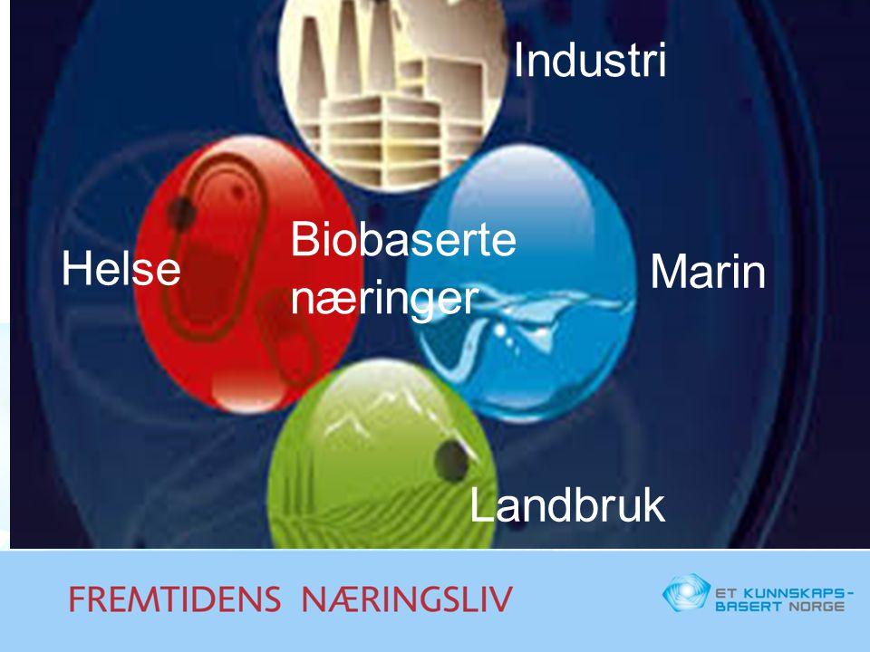 Helse Industri Landbruk Marin Biobaserte næringer