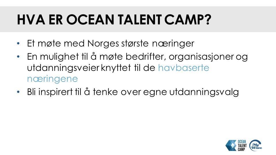 HVA ER OCEAN TALENT CAMP.