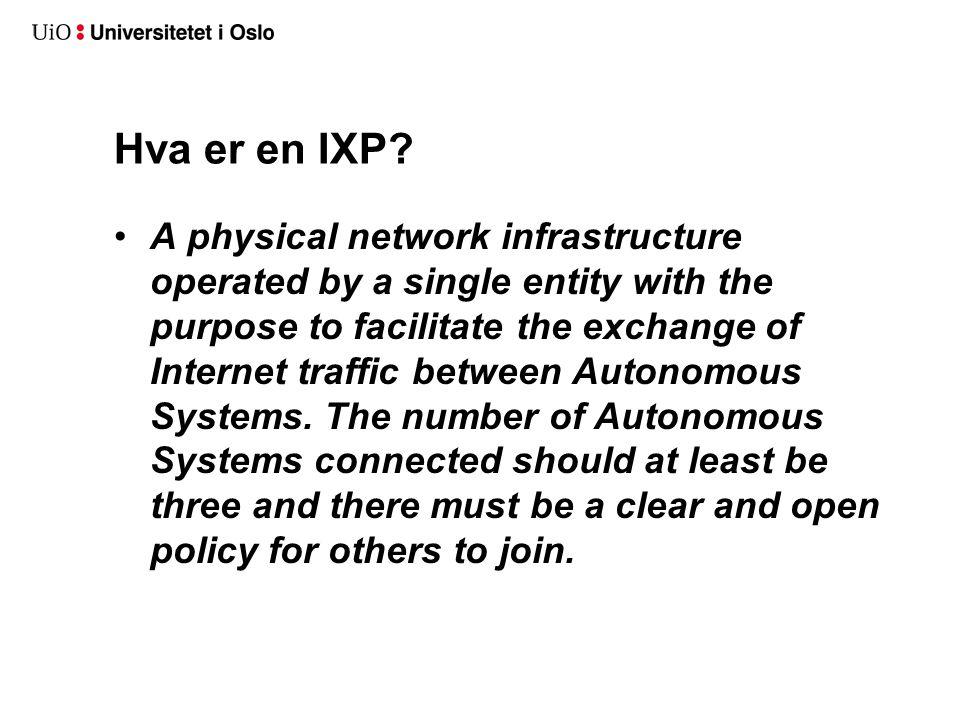 Hva er en IXP.