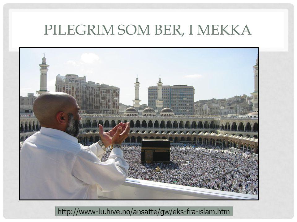 PILEGRIM SOM BER, I MEKKA http://www-lu.hive.no/ansatte/gw/eks-fra-islam.htm