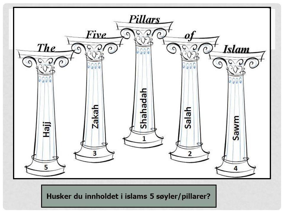 Husker du innholdet i islams 5 søyler/pillarer?