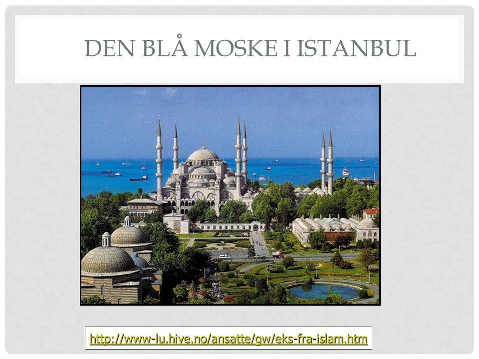 DEN BLÅ MOSKE I ISTANBUL http://www-lu.hive.no/ansatte/gw/eks-fra-islam.htm