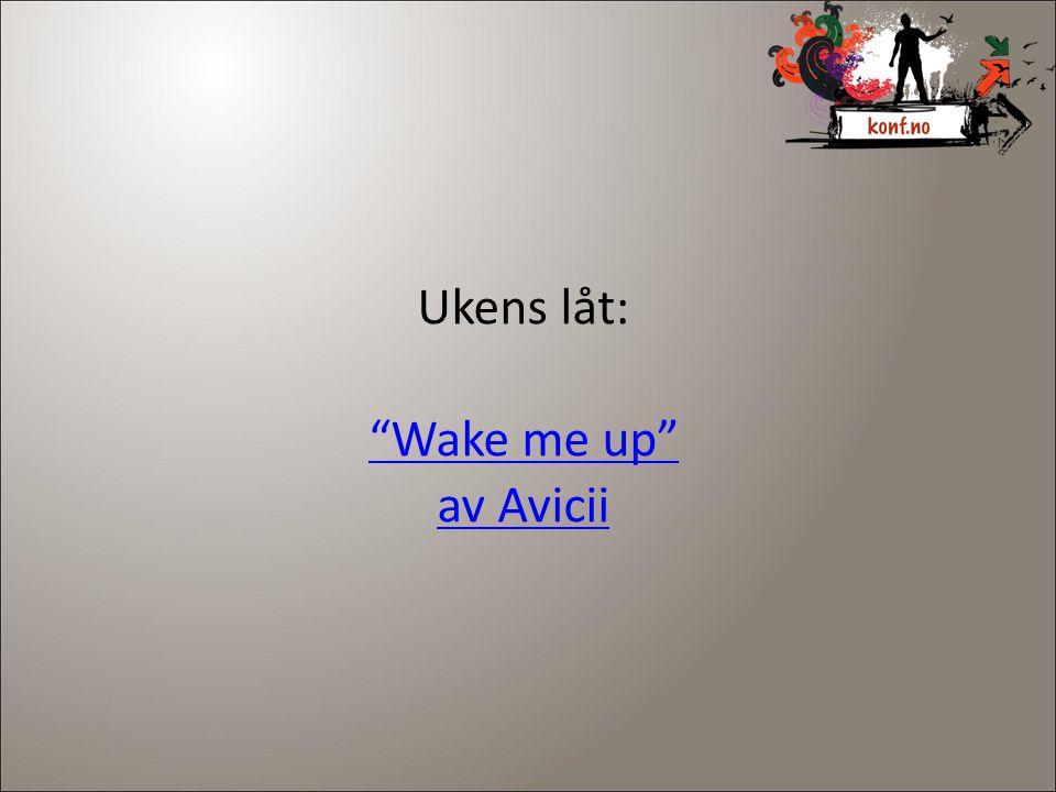 "Ukens låt: ""Wake me up"" av Avicii"