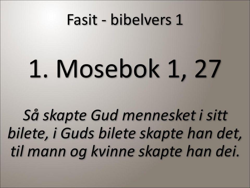 Fasit - bibelvers 1 1.