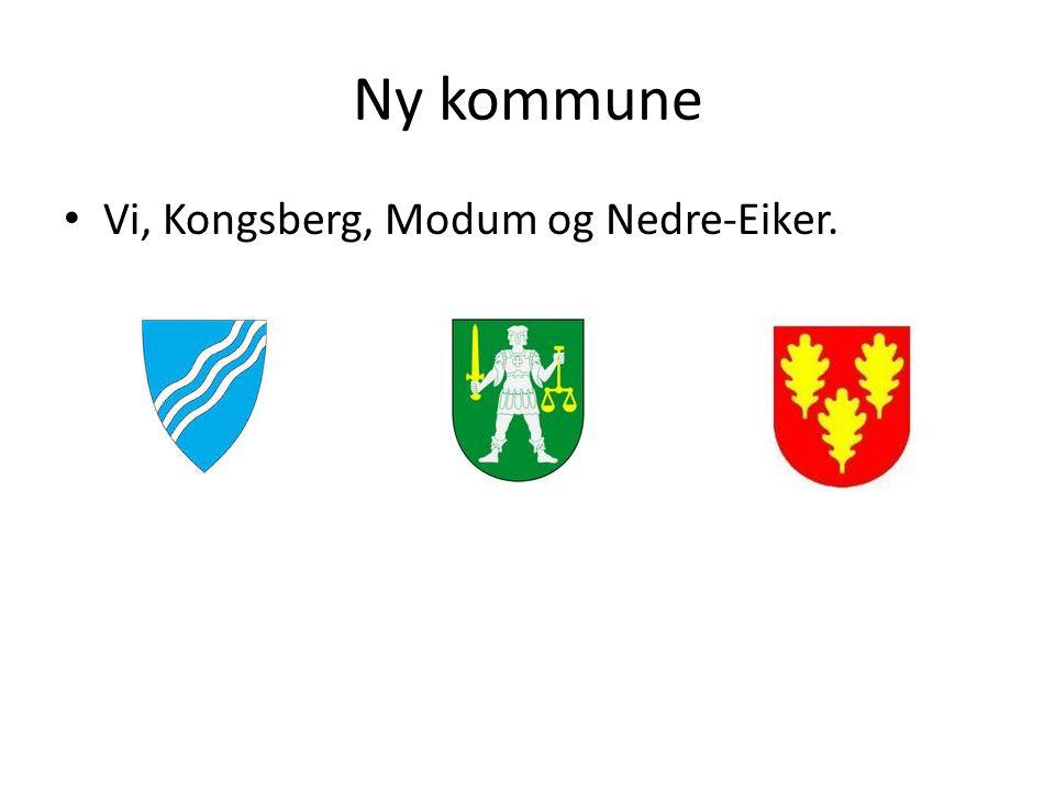 Ny kommune Vi, Kongsberg, Modum og Nedre-Eiker.