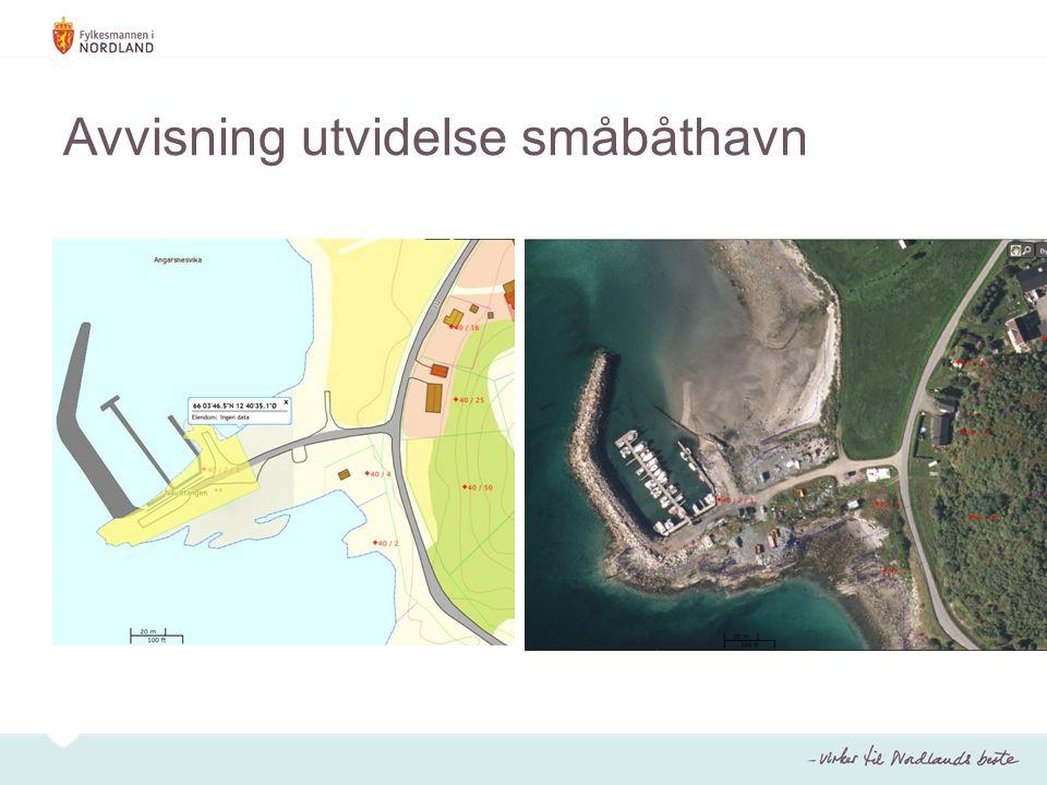 Avvisning utvidelse småbåthavn