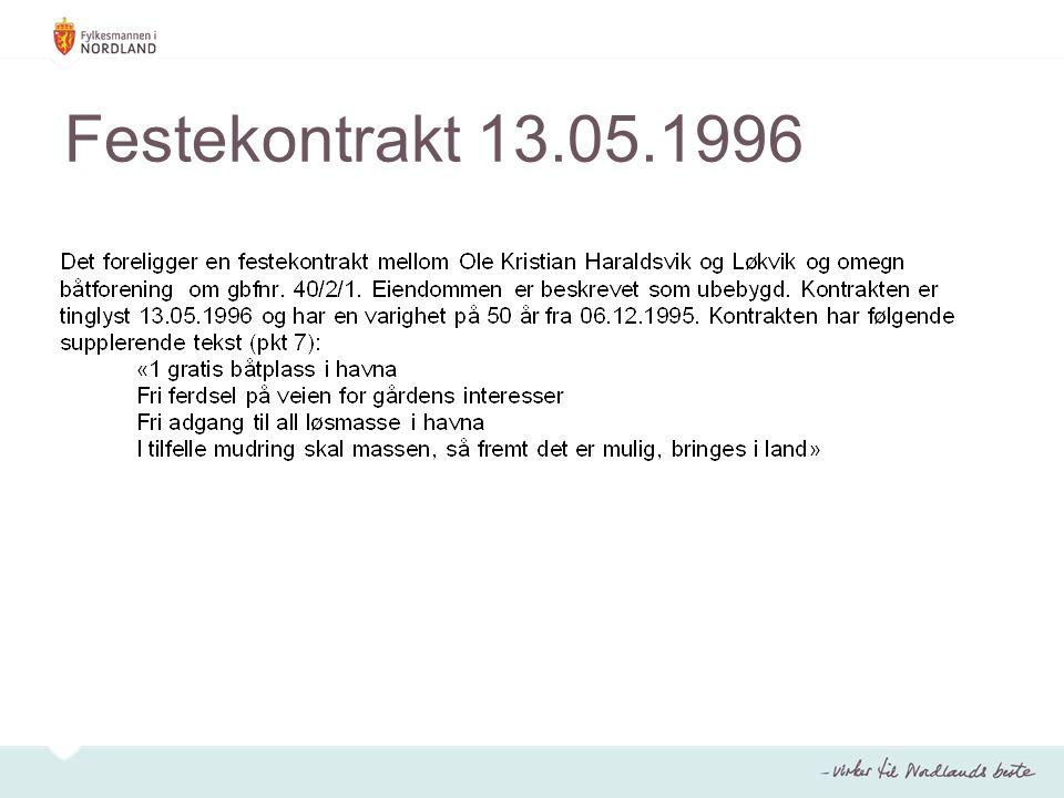Festekontrakt 13.05.1996