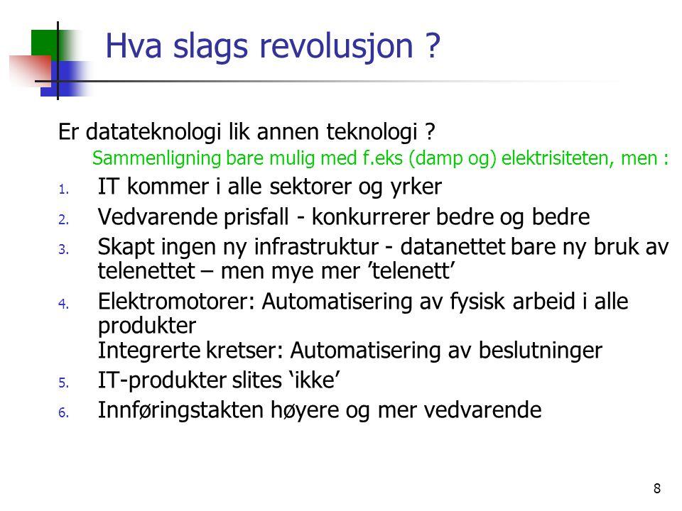 8 Hva slags revolusjon . Er datateknologi lik annen teknologi .