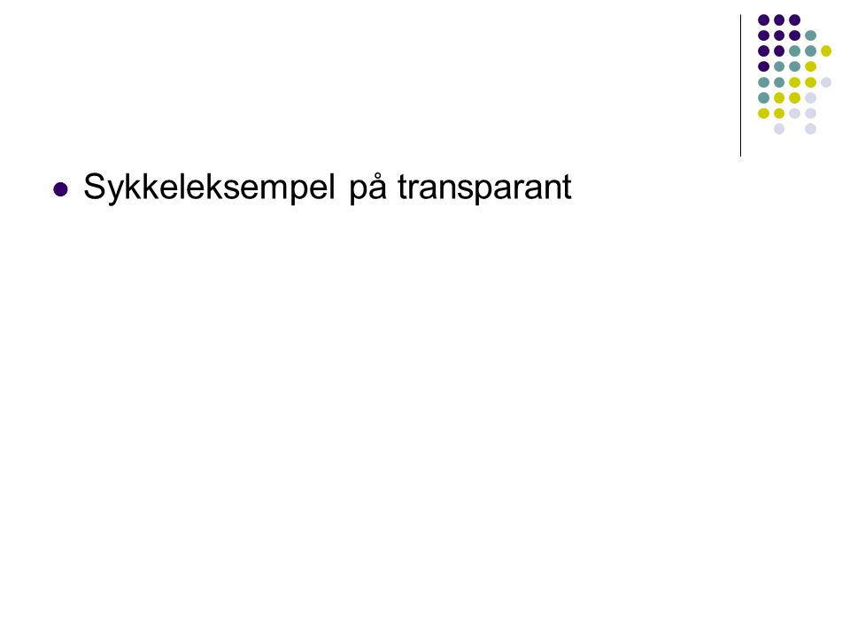 Sykkeleksempel på transparant