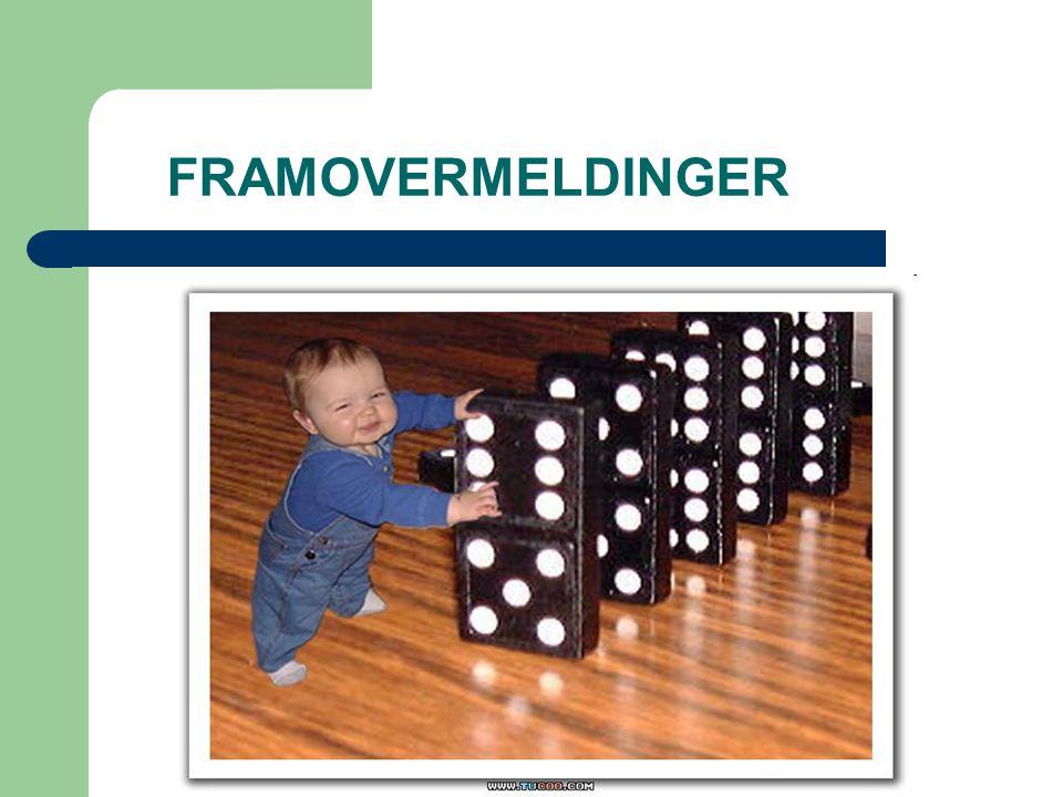FRAMOVERMELDINGER