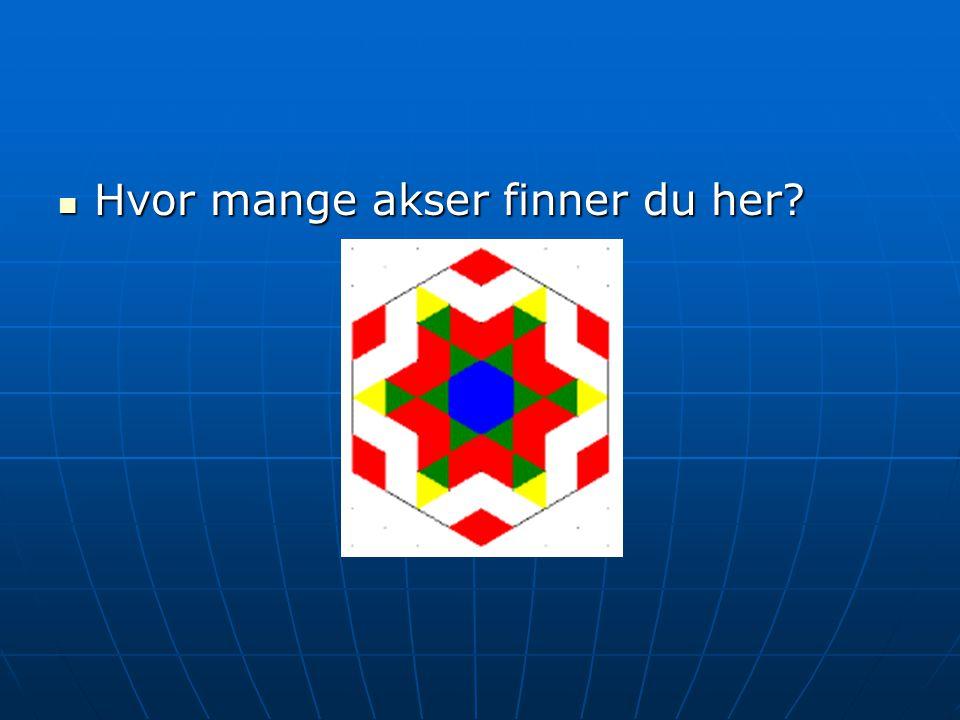 Hvor mange akser finner du her? Hvor mange akser finner du her?