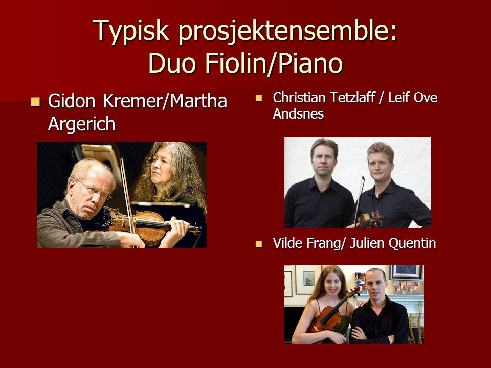 Duo fiolin og piano : spiller musikk av Mozart, Bach og Grieg så langt… Nina Jackson Nina Jackson Fiolinist og pedagog, utdannet ved Høgskolen i Tromsø og Grieg akademiet Fiolinist og pedagog, utdannet ved Høgskolen i Tromsø og Grieg akademiet Underviser ved Karmøy kulturskole.
