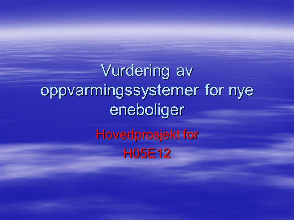 Vurdering av oppvarmingssystemer for nye eneboliger  Gruppen Lars Håkon Langgård Bor i Fredrikstad Jon-Magnus Grønmo Andreassen Bor i Sarpsborg