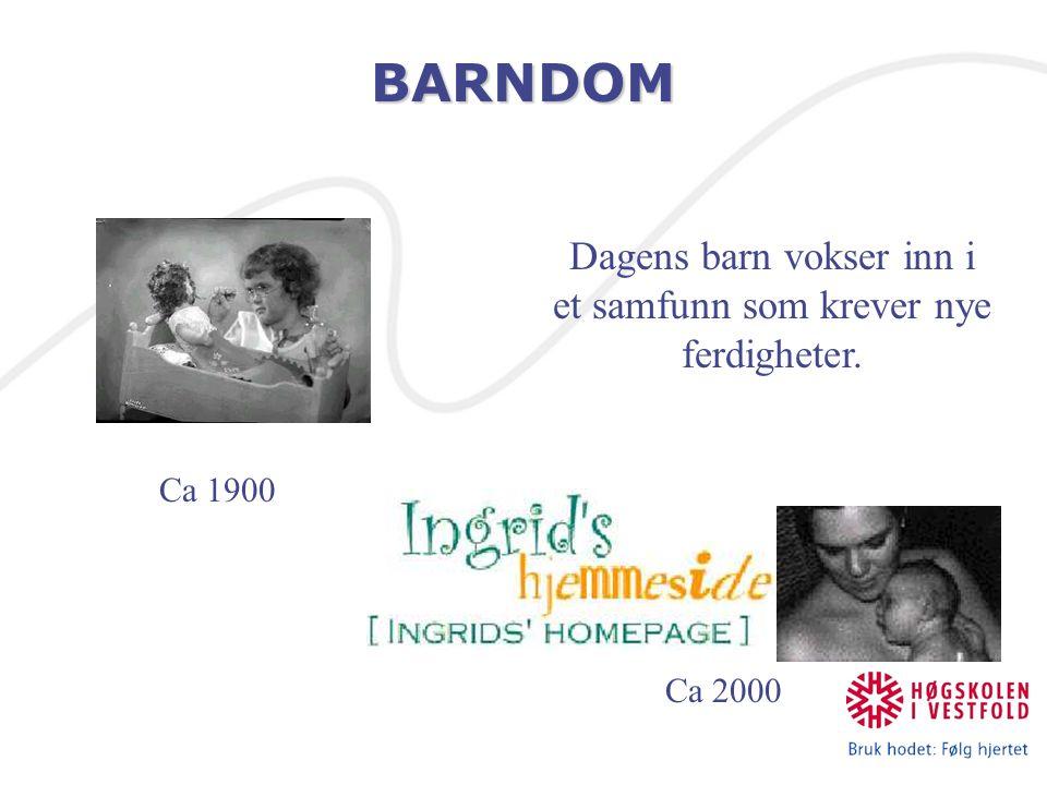 SOSIAL KOMPETANSE Barnets utvikling som integrasjon i en kultur.