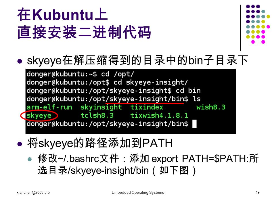 xlanchen@2008.3.5Embedded Operating Systems20