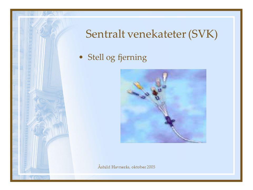 Åshild Havnerås, oktober 2005 Sentralt venekateter (SVK) Stell og fjerning