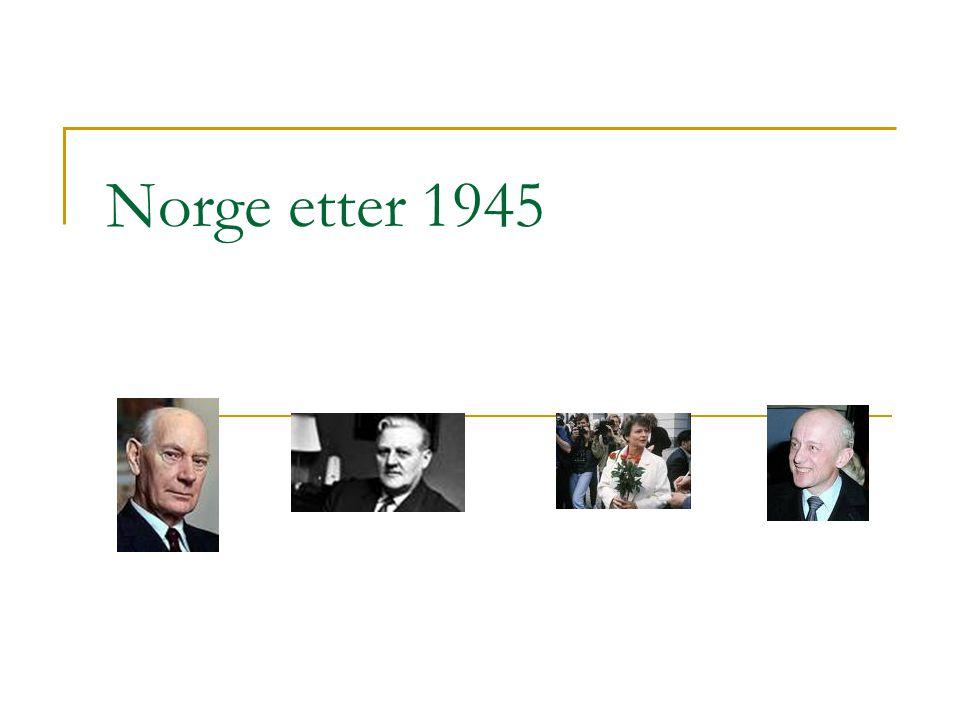 Norge etter 1945