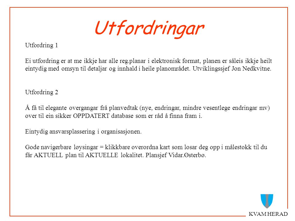 KVAM HERAD Digital detaljplan TIFF -georeferert Vektorkart - SOSI standard