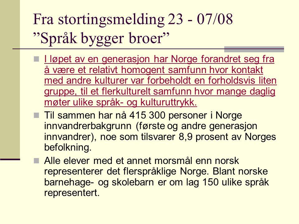 Organisering og ressurser Opplæringslovas § 2-8 Elevar i grunnskolen med anna morsmål enn norsk og samisk har rett til særskild norskopplæring til dei har tilstrekkeleg dugleik i norsk til å følgje den vanlege opplæringa i skolen.