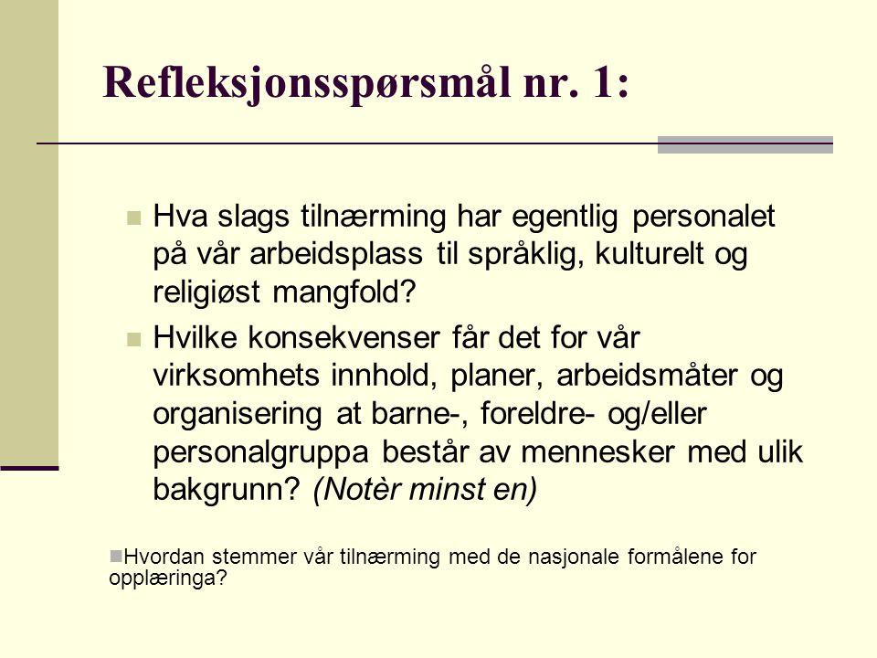 2.GENERASJONS INNVANDRERE Konfliktene mellom norsk og egen kultur.