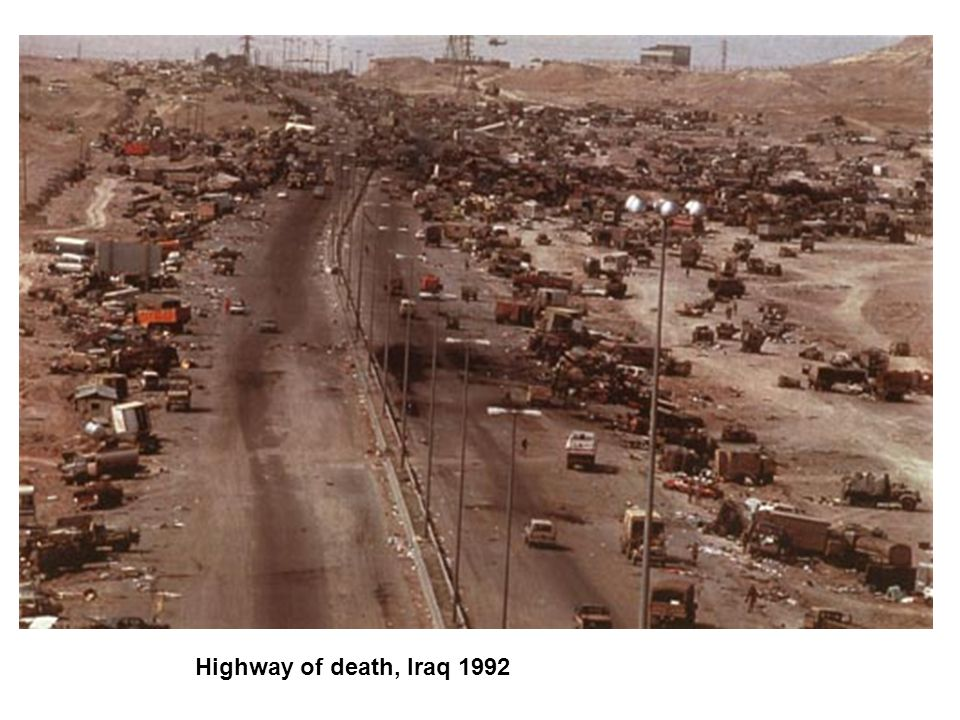 Highway of death, Iraq 1992