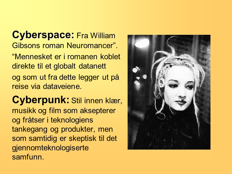 Cyberspace: Cyberspace: Fra William Gibsons roman Neuromancer .