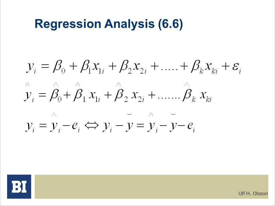 Ulf H. Olsson Regression Analysis (6.6)