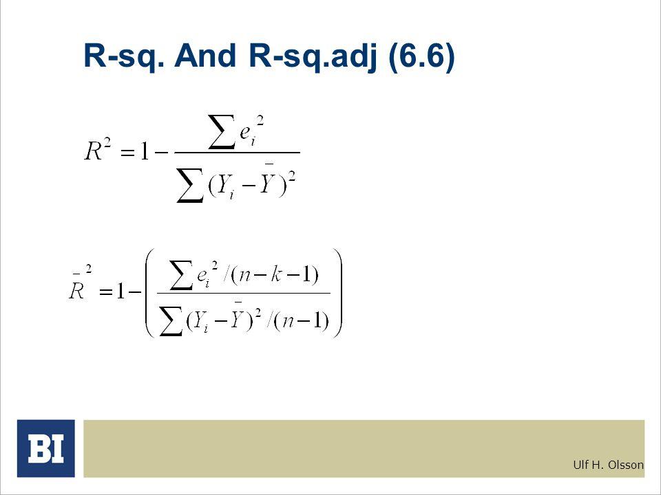 Ulf H. Olsson R-sq. And R-sq.adj (6.6)