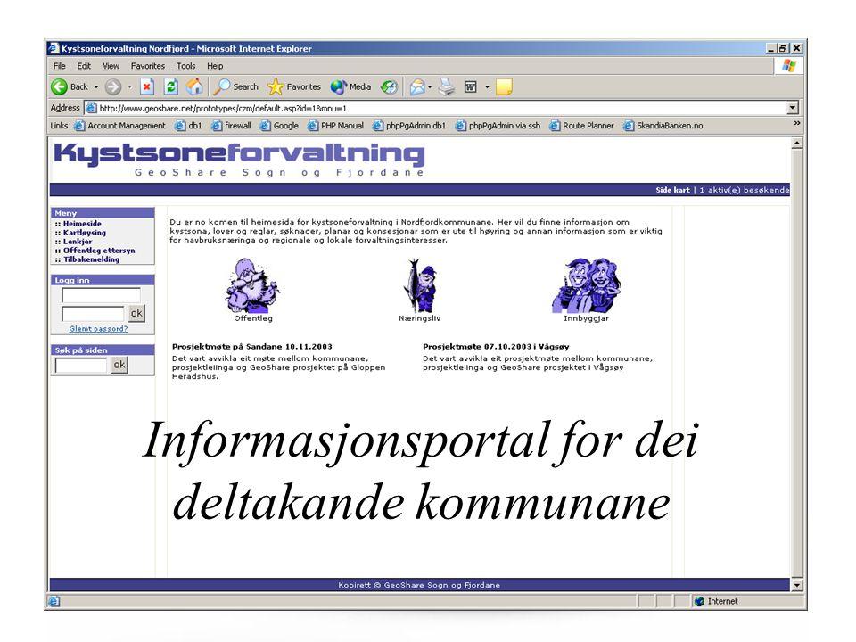 Informasjonsportal for dei deltakande kommunane