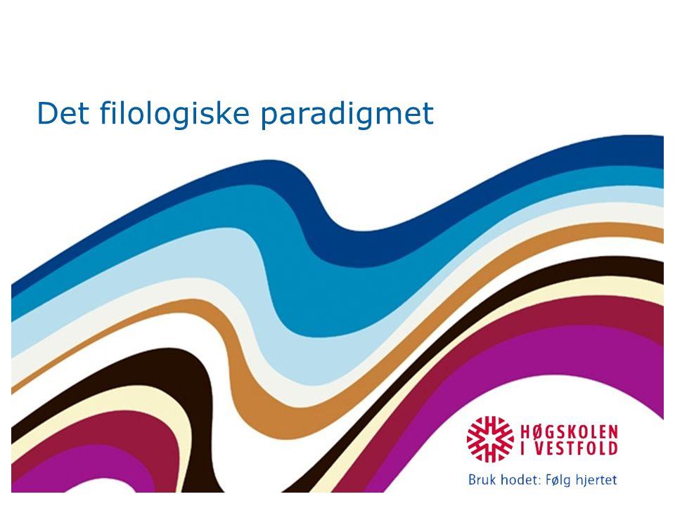 Hermeneutikken Primær oppgave: kartlegge de objektive språklige og historiske betingelser for en tekst samt hvordan forfatteren gjør bruk av og omsetter disse (s.