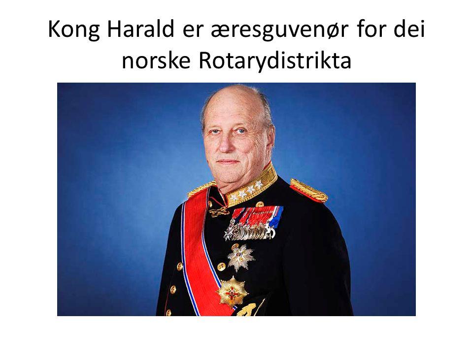 Kong Harald er æresguvenør for dei norske Rotarydistrikta