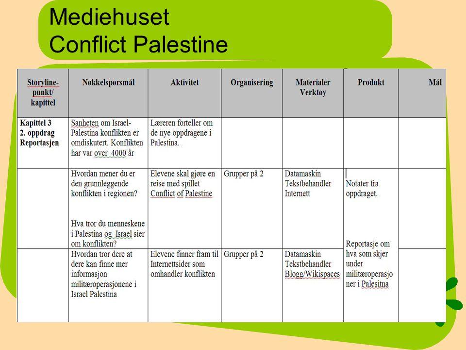 Mediehuset Conflict Palestine