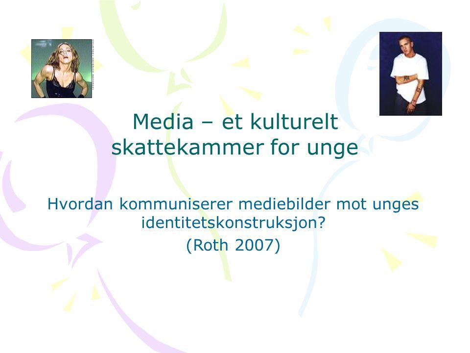 Media – et kulturelt skattekammer for unge Hvordan kommuniserer mediebilder mot unges identitetskonstruksjon.