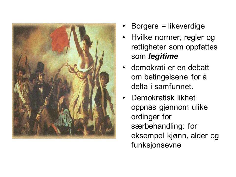mønstre De fleste nordmenn deltar i organisasjoner.