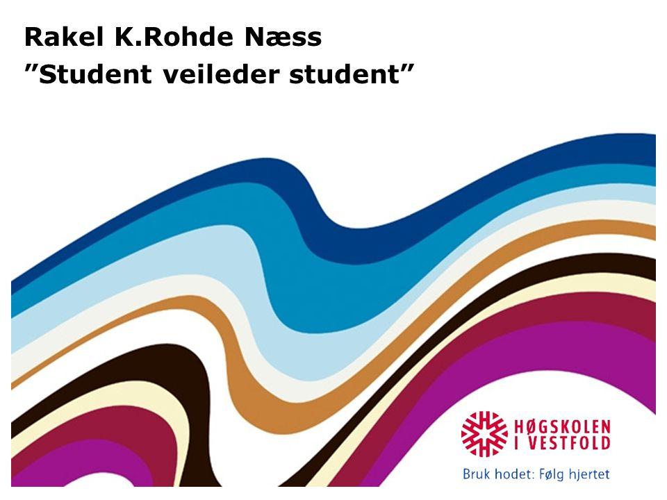 "Rakel K.Rohde Næss ""Student veileder student"""