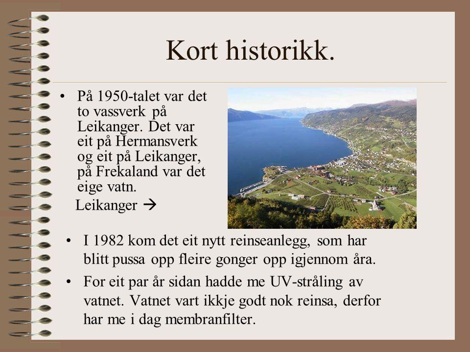 Kort historikk. På 1950-talet var det to vassverk på Leikanger.