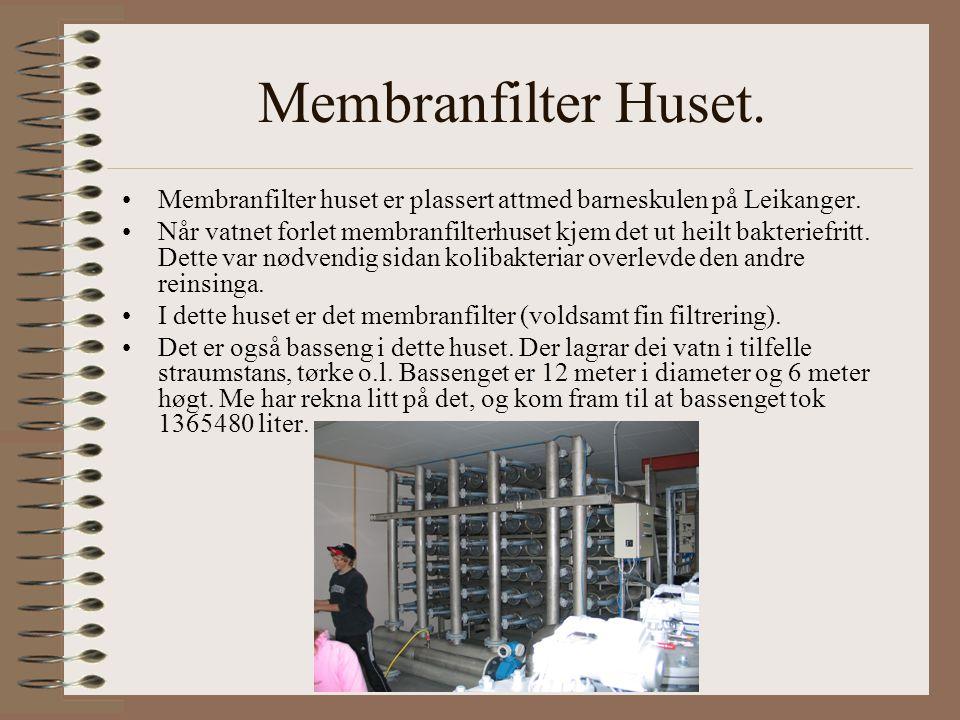 Membranfilter Huset. Membranfilter huset er plassert attmed barneskulen på Leikanger.
