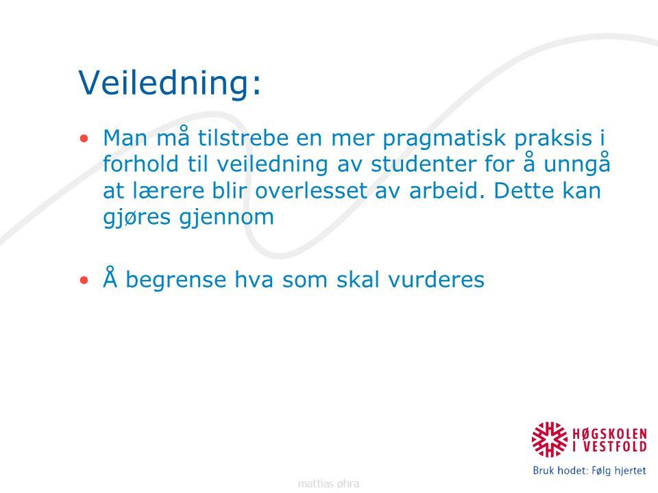 Veiledning: Man må tilstrebe en mer pragmatisk praksis i forhold til veiledning av studenter for å unngå at lærere blir overlesset av arbeid.