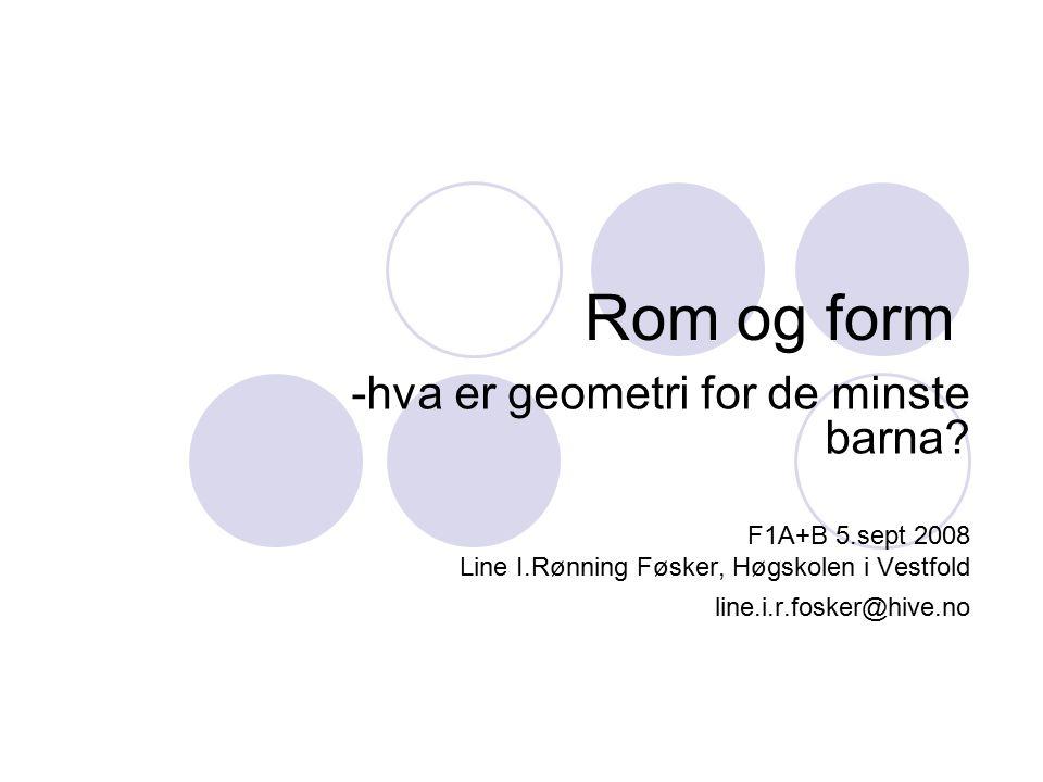 Rom og form -hva er geometri for de minste barna.