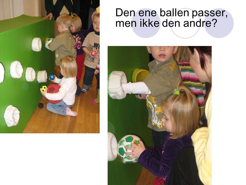 Den ene ballen passer, men ikke den andre?